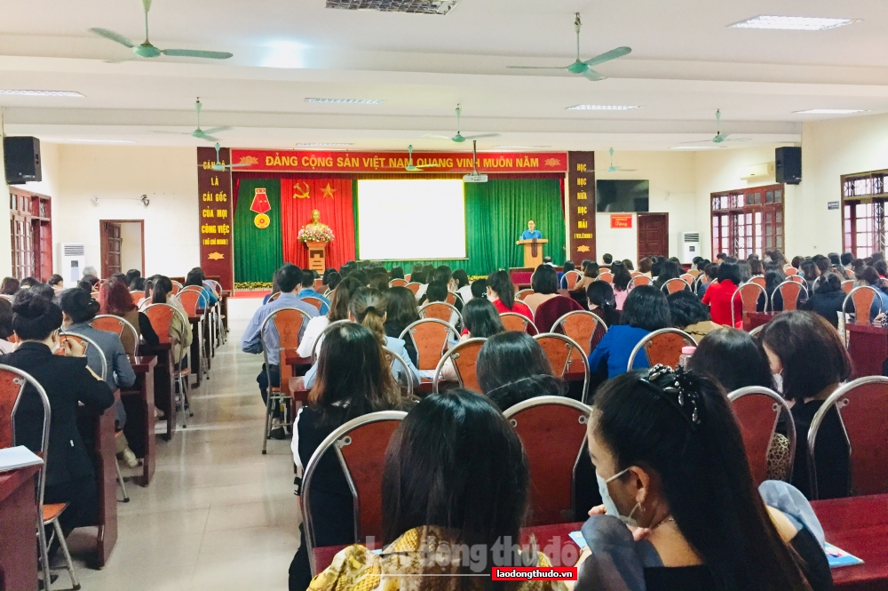 LĐLĐ huyện Thanh Trì tổ chức bồi dưỡng nghiệp vụ công đoàn năm 2021