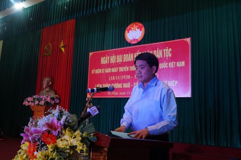 """Dự """"Ngày hội đại đoàn kết toàn dân tộc"""" tại huyện Thanh Trì"""