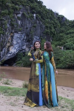 Hoa hậu Phan Thị Mơ, Phan Thu Quyên bay bổng trong BST áo dài 'Di sản trong lòng đất'