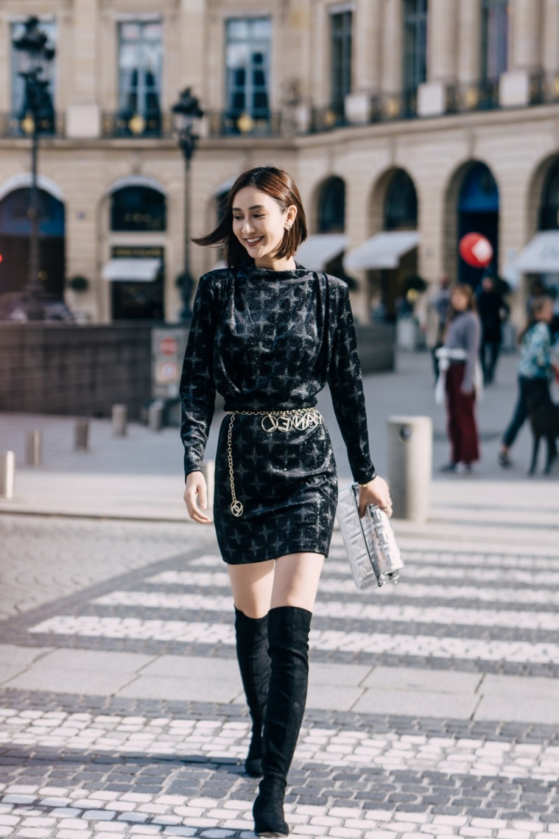 a hau ha thu mix do chuan fashionista tai pho paris