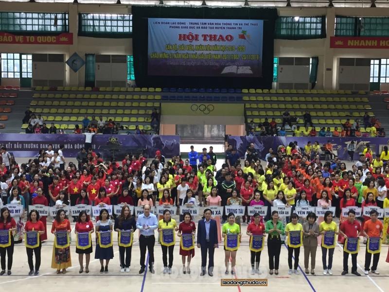 Tưng bừng Hội thao Khối trường học huyện Thanh Trì