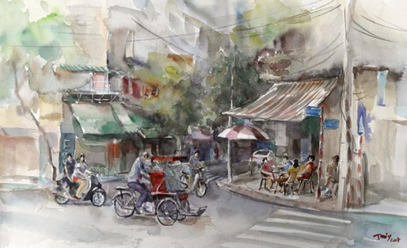 Triển lãm 'Ký họa Hà Nội 2017' mừng năm mới 2018