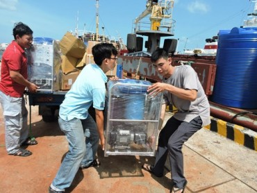 Nhà giàn DK1 có máy biến nước biển thành nước ngọt