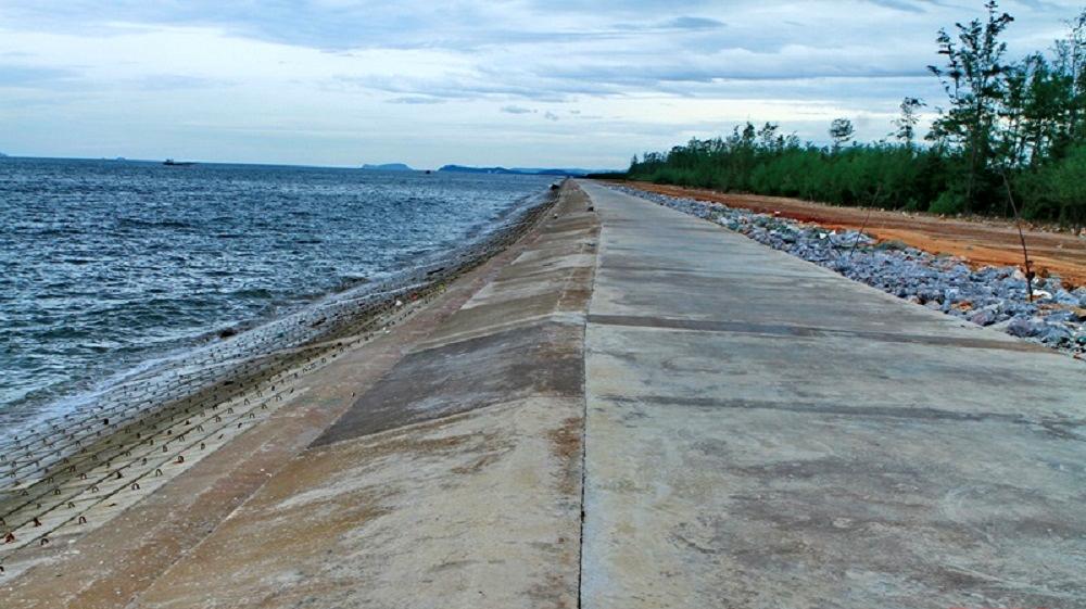 Thanh Hóa hoàn thành công trình kè chống sạt lở bờ biển trên 90 tỷ đồng