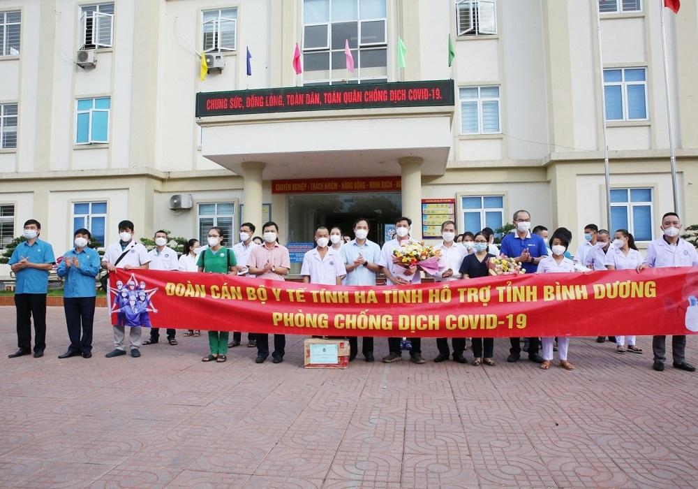 Lần thứ 2, tỉnh Hà Tĩnh cử 32 cán bộ y tế  lên đường vào Bình Dương hỗ trợ chống dịch