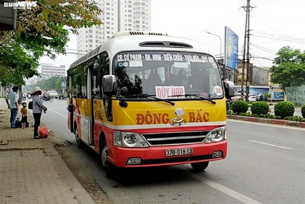 Nghệ An cho phép hoạt động trở lại đối với vận tải hành khách nội tỉnh