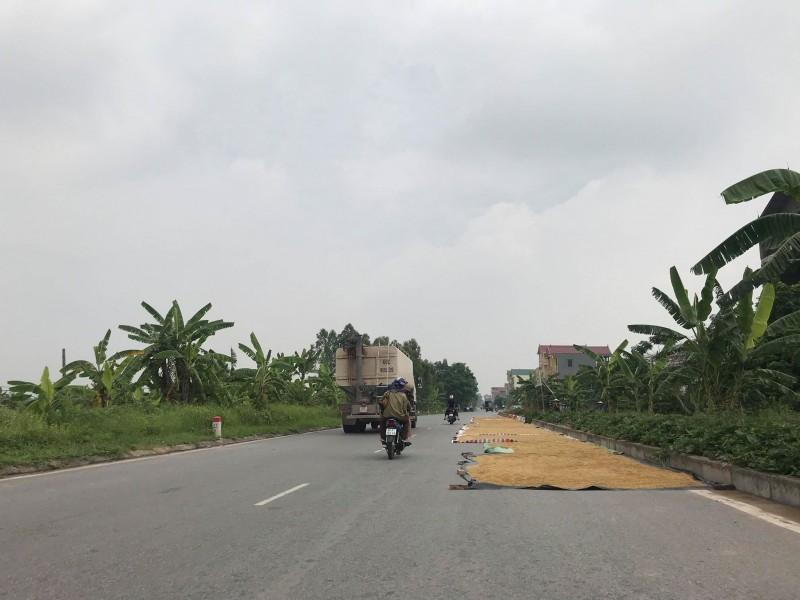 Phơi, đốt rơm rạ trên đường liên tỉnh: Hiểm họa tiềm ẩn khi mùa về