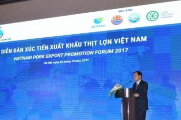 Diễn đàn xúc tiến xuất khẩu thịt lợn Việt Nam: Cơ hội lớn của ngành chăn nuôi