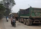Rác thải ngập tràn đường Nguyễn Cơ Thạch kéo dài