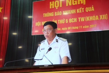 Đảng bộ Vùng 2 Hải quân thông báo nhanh Nghị quyết Trung ương 6 Khóa 12 của Đảng