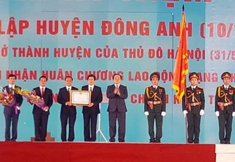 Huyện Đông Anh đón nhận Huân chương lao động hạng Nhì