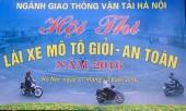 Hội thi lái xe môtô giỏi, an toàn năm 2016 ngành GTVT Hà Nội
