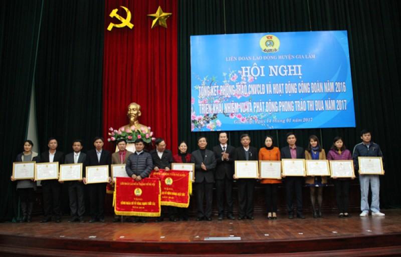 LĐLĐ huyện Gia Lâm phát động thi đua năm 2017