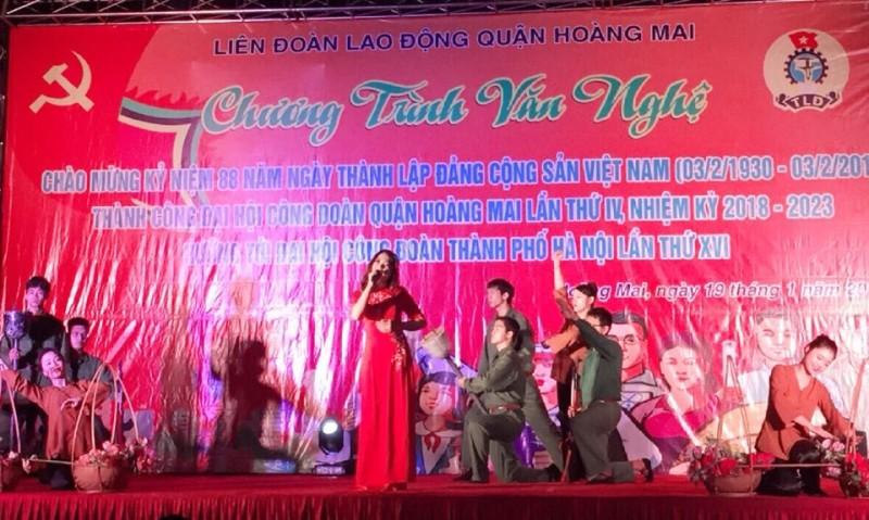 Chương trình văn nghệ chào mừng thành công Đại hội Công đoàn quận Hoàng Mai lần thứ IV
