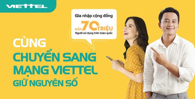 Từ 1/1/2019: Thuê bao trả trước có thể chuyển sang mạng Viettel giữ nguyên số