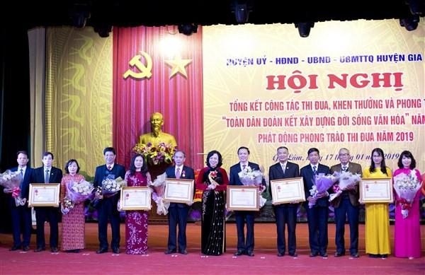 Huyện Gia Lâm tổng kết phong trào thi đua năm 2018