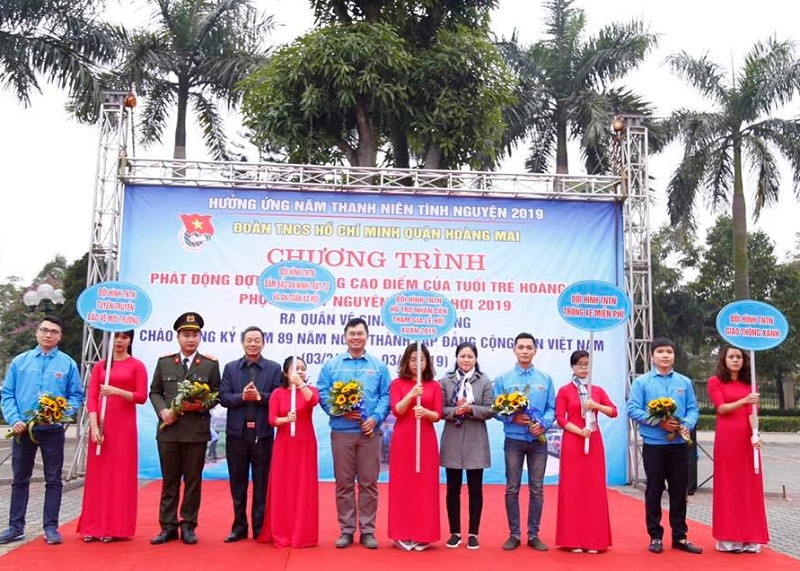 Tuổi trẻ quận Hoàng Mai phát động đợt hoạt động cao điểm phục vụ Tết Nguyên đán Kỷ Hợi 2019