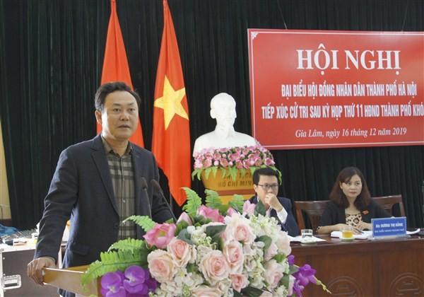 Cử tri huyện Gia Lâm kiến nghị nhiều vấn đề liên quan đến đất đai, môi trường