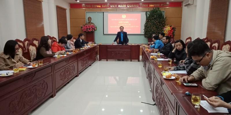 LĐLĐ Thành phố gặp mặt các cơ quan thông tấn, báo chí nhân dịp Xuân Canh Tý 2020