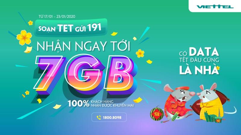 Viettel tặng 4G cho tất cả các khách hàng trong dịp Tết