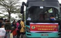 LĐLĐ quận Long Biên: 3 chuyến xe đưa công nhân về quê ăn Tết