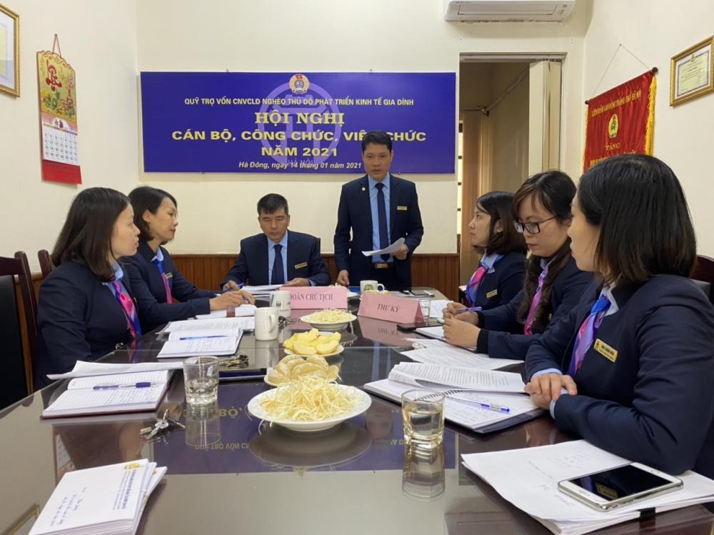 Hội nghị cán bộ, công chức, viên chức Quỹ Trợ vốn năm 2021