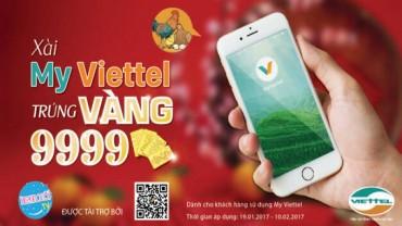 """Viettel triển khai chương trình quay số """"Xài MyViettel trúng vàng 9999"""""""