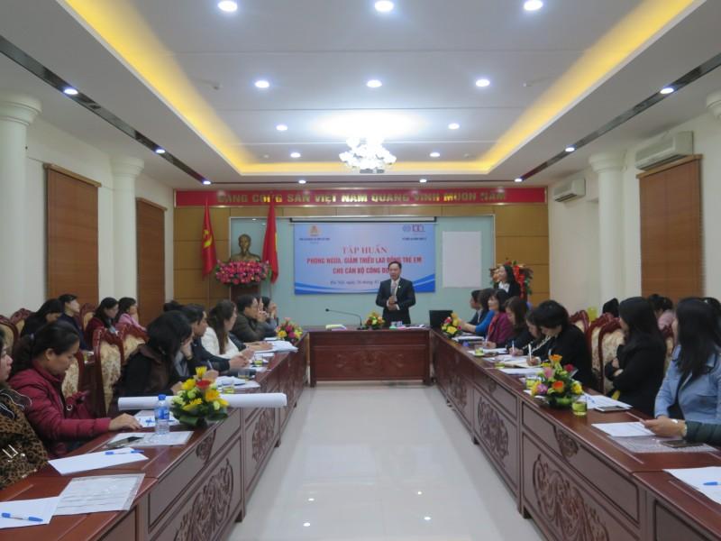 Tập huấn phòng ngừa và giảm thiểu lao động trẻ em cho cán bộ công đoàn Thủ đô