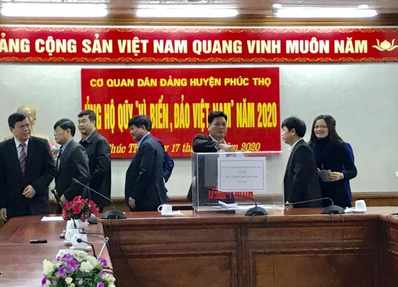 """Ủng hộ ít nhất một ngày lương cho Quỹ """"Vì biển, đảo Việt Nam"""" năm 2020"""