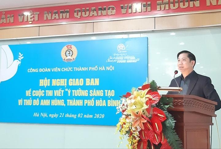 Đôn đốc cán bộ công chức viên chức dự thi hiến kế xây dựng Thủ đô