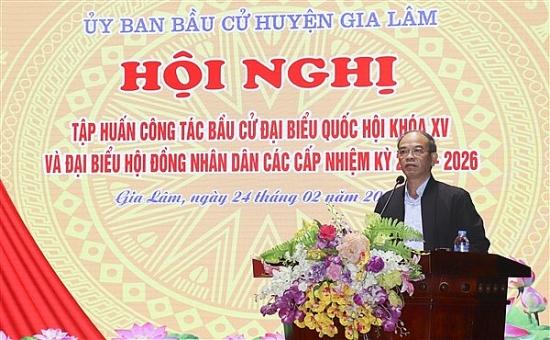 Huyện Gia Lâm tập huấn công tác bầu cử đại biểu Quốc hội và Hội đồng nhân dân các cấp