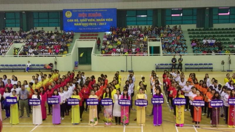 Sôi nổi Hội khỏe ngành GD&ĐT quận Hoàng Mai