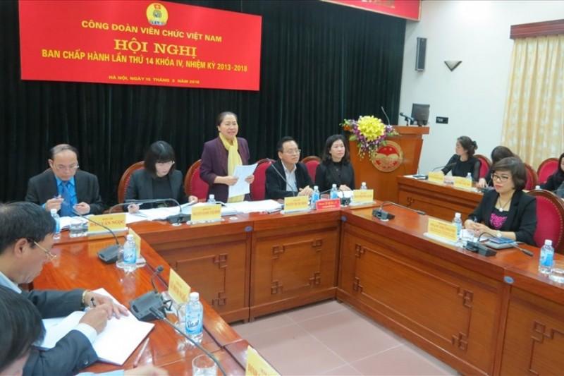 Hội nghị Ban Chấp hành Công đoàn Viên chức Việt Nam khóa IV, kỳ họp lần thứ 14