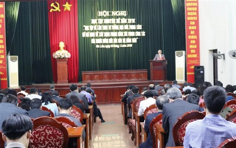 Cán bộ chủ chốt huyện Gia Lâm học tập làm theo tư tưởng, đạo đức phong cách Hồ Chí Minh, chuyên đề năm 2018