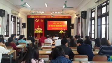 Công đoàn Viên chức Thành phố tập huấn nghiệp vụ công tác công đoàn năm 2018