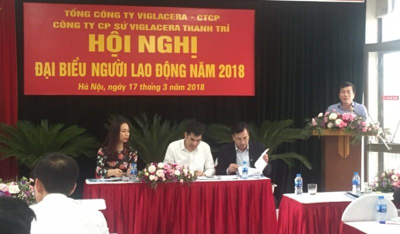 hoi nghi nguoi lao dong cong ty co phan su viglacera thanh tri nam 2018