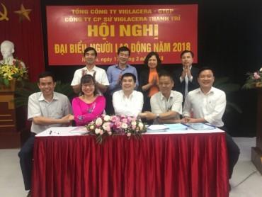 Hội nghị Người lao động Công ty cổ phần Sứ Viglacera Thanh Trì  năm 2018