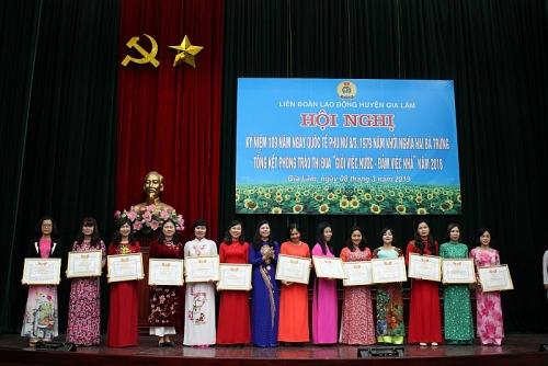 Khen thưởng 56 tập thể, cá nhân 'Giỏi việc nước- Đảm việc nhà' năm 2018