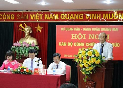 Hội nghị cán bộ công chức, viên chức Cơ quan Dân Đảng quận Hoàng Mai năm 2019