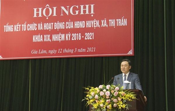 Hội đồng nhân dân huyện Gia Lâm khóa XIX: Hoàn thành tốt các chức năng, nhiệm vụ