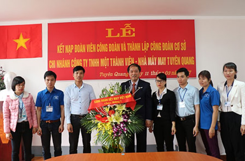 Thêm một CĐCS mới thuộc Công đoàn Dệt May Việt Nam