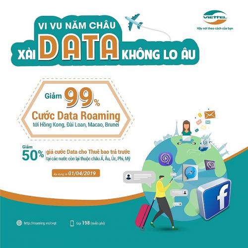 Viettel giảm giá lên tới 99% cước dịch vụ Data Roaming