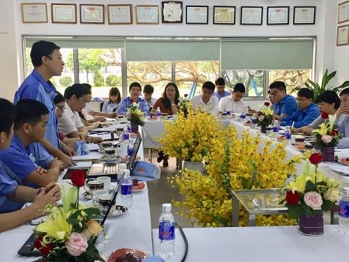 Tổng LĐLĐ Việt Nam giám sát chuyên đề tại Công đoàn Công ty TNHH Điện Stanley Việt Nam