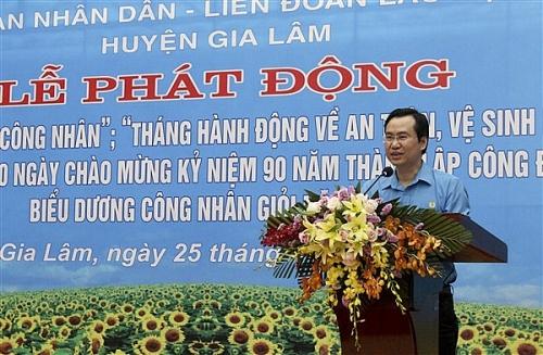 LĐLĐ huyện Gia Lâm: Kêu gọi CNVCLĐ hăng hái thi đua