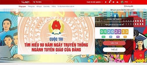 Đẩy mạnh tuyên truyền kỷ niệm 90 năm Ngày truyền thống ngành Tuyên giáo của Đảng