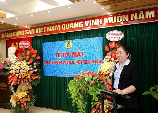 Ra mắt Công đoàn cơ sở Trường Mầm non thực hành Linh Đàm