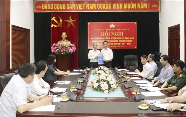 Gia Lâm hiệp thương lần thứ ba chốt danh sách người ứng cử đại biểu Hội đồng nhân dân huyện
