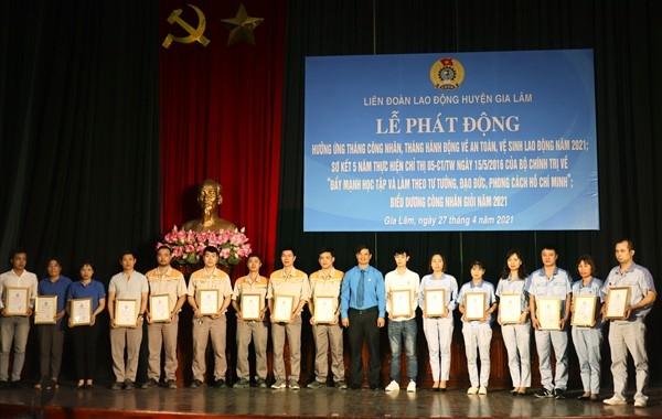 Liên đoàn Lao động huyện Gia Lâm phát động Tháng Công nhân năm 2021