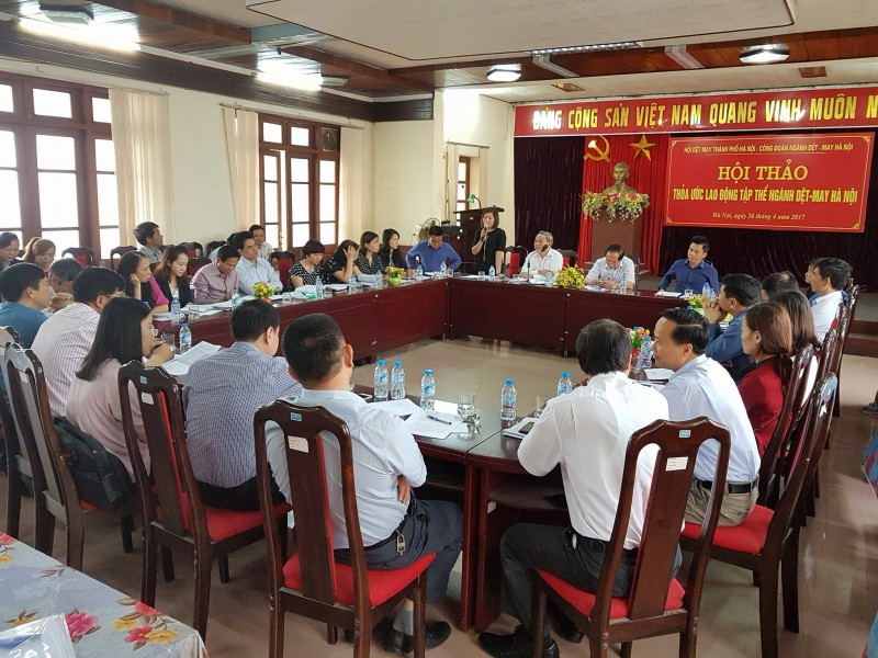 Hội thảo Thỏa ước lao động tập thể ngành Dệt-May Hà Nội