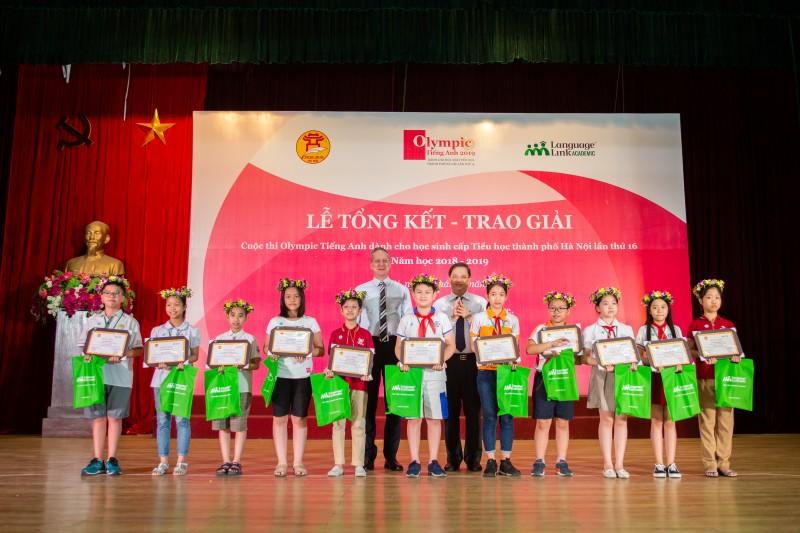 216 thí sinh đạt giải tại Olympic Tiếng Anh Tiểu học TP Hà Nội lần thứ 16